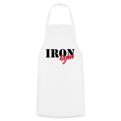 iron gym logo black - Delantal de cocina
