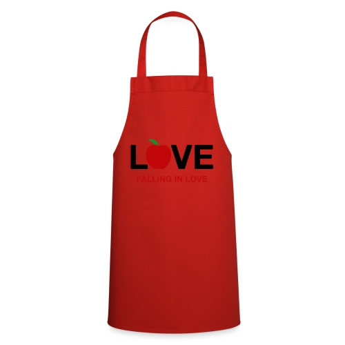 Falling in Love - Black - Cooking Apron