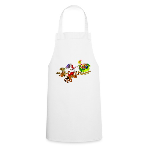 Santa's Gift Delivery with a Slingshot - Cooking Apron