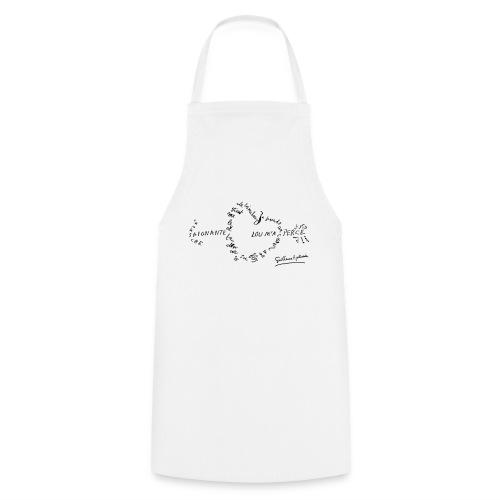 calligramme_fleche_saignante - Tablier de cuisine