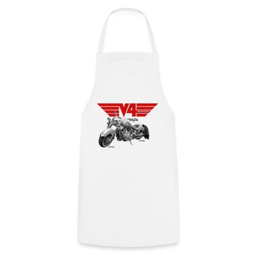 V4 Motorcycles red Wings - Kochschürze