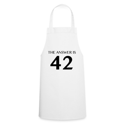 The Answer is 42 Black - Cooking Apron