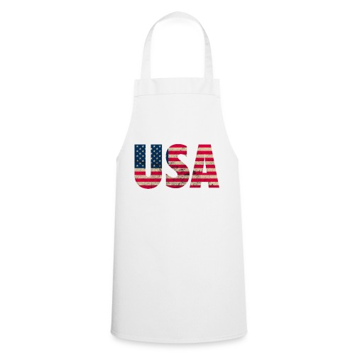 USA Amerika Stars and Stripes Used Look - Cooking Apron