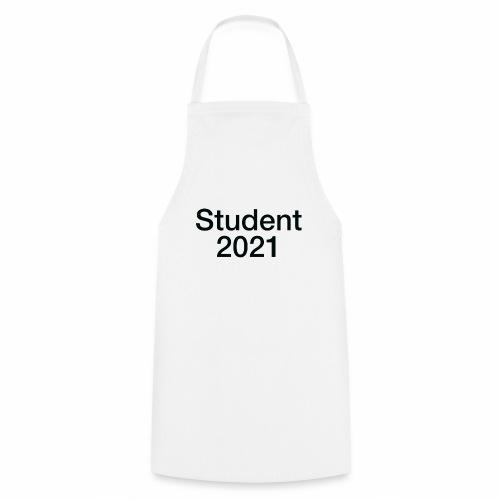 Student 2021 - sort tryk - Forklæde