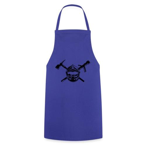 casque_pompier_hache et lance - Tablier de cuisine