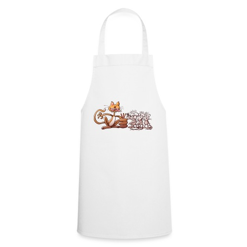 Cat Choosing a Mouse by Drawing the Short Straw - Cooking Apron