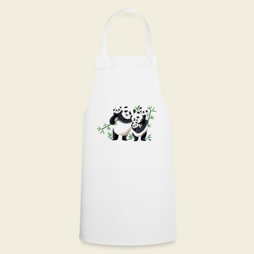 Pandafamilie drei Kinder - Kochschürze