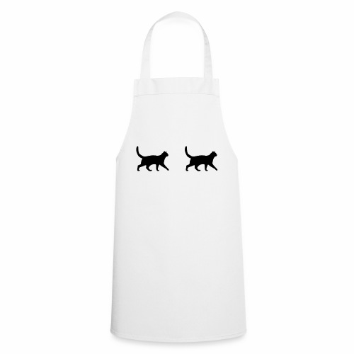 Zwei Katzen - Kochschürze