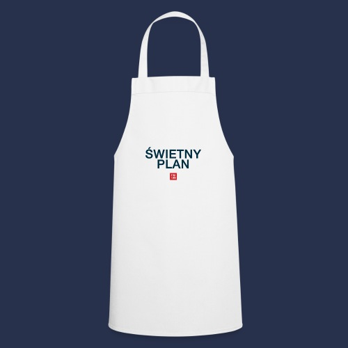 SWIETNY PLAN - napis ciemny - Fartuch kuchenny