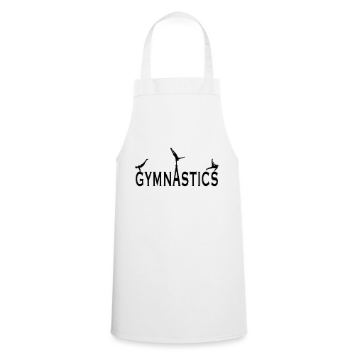 Male Gymnastics With Black Silhouttes - Cooking Apron