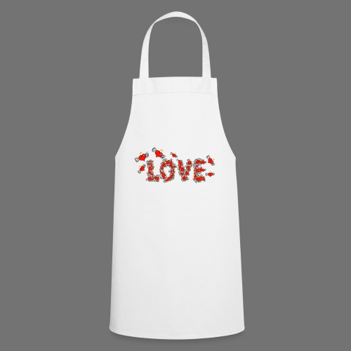 Fliegende Herzen LOVE - Kochschürze
