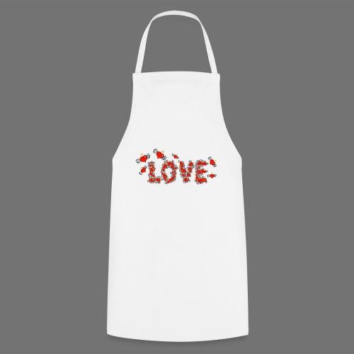 Latające miłości serc - Fartuch kuchenny
