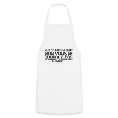 T-Shirt-Femme-Enceinte-Chocolat - Tablier de cuisine