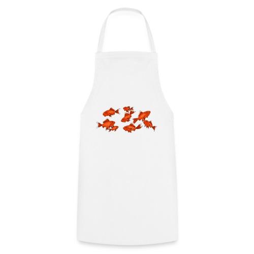 Les petits poissons rouges - Tablier de cuisine