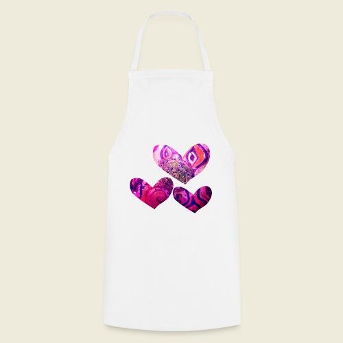 Traumhafte Herzen in pink - Kochschürze