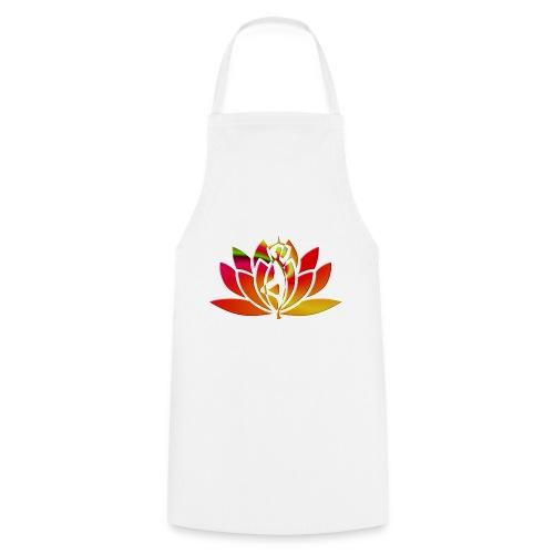 Motif lotus yoga - Tablier de cuisine