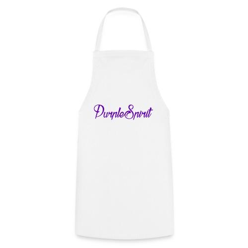 PurpleSpirit White Tee - Cooking Apron