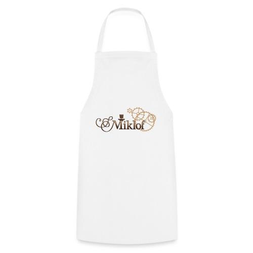 miklof logo gold wood gradient 3000px - Cooking Apron