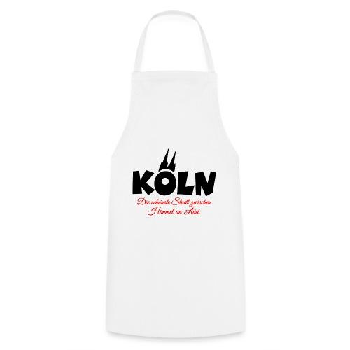 Köln zwischen Himmel un Ääd (Schwarz/Rot) - Kochschürze