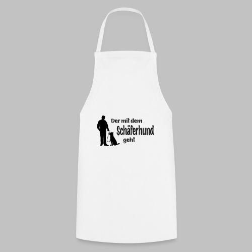 Der mit dem Schäferhund geht - Black Edition - Kochschürze