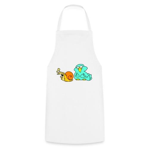 Schnecke und Vogel Nr 3 von dodocomics - Kochschürze