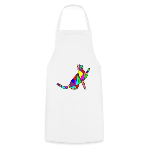 composizione di arte animale animale domestico colori gatto - Grembiule da cucina