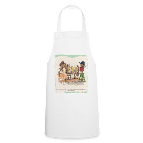 Thelwell Cartoon Pony beim Friseur - Kochschürze