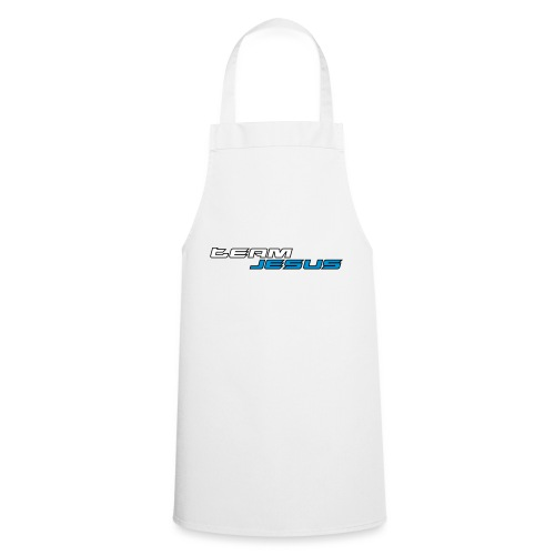 Team Jesus Racing Sport Logo White Blue - Fartuch kuchenny