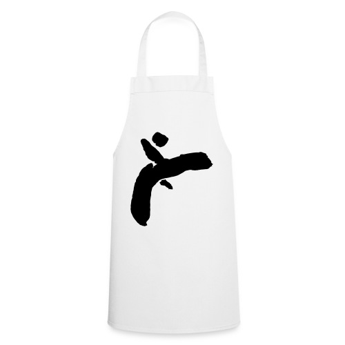 Martial Arts Kick - Slhouette Minimal Wushu Kungfu - Cooking Apron