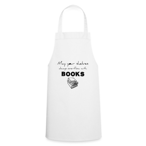 0033 Full Bookshelf | High stack of books | Read - Cooking Apron