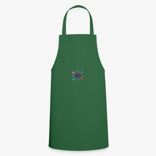 MP logo with social media icons - Cooking Apron
