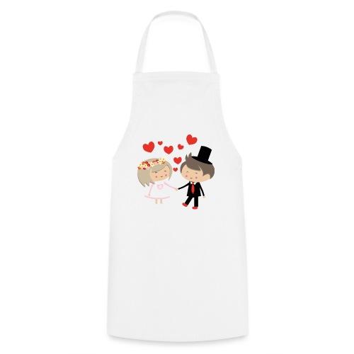 Happy Meitlis - Hochzeitspaar - Kochschürze
