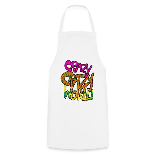 kleurige crazy crazy world - Keukenschort