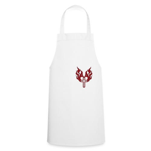 Cross and flaming hearts 02 - Cooking Apron