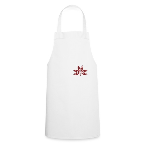 Cross with flaming hearts 01 - Cooking Apron