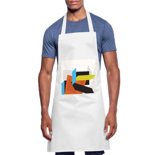 Vintage shapes abstract - Cooking Apron