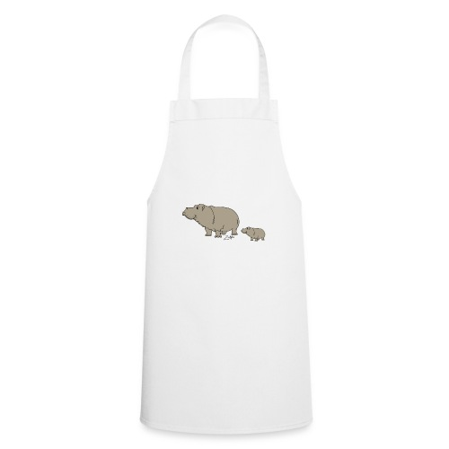 Hippo mit Baby - Kochschürze