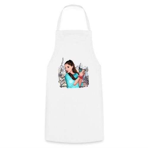 Vapegirl dampft in cooler Pose / Vaping / Vape - Kochschürze