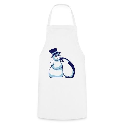 Schneemann und Pinguin - Kochschürze