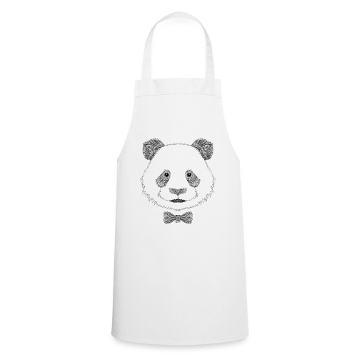 Panda tête noeud papillon - Tablier de cuisine