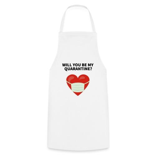 Herz mit Mundschutz und Schriftzug - Kochschürze