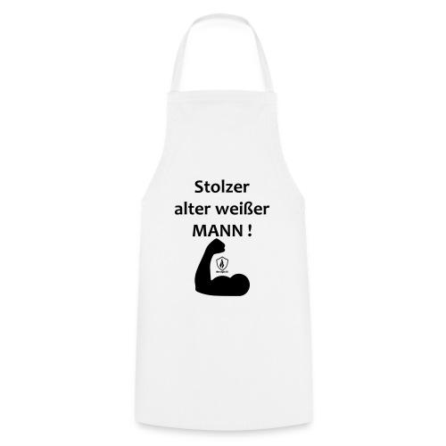 Stolzer alter weißer Mann - Kochschürze