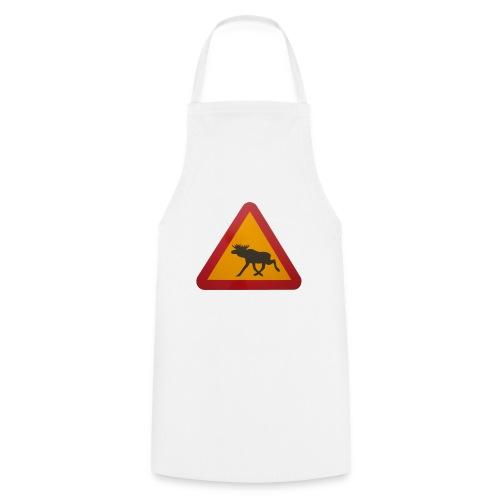 Warnschild Elch - Kochschürze