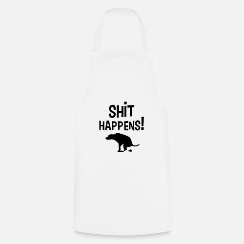 Shit Happens met Hond - Keukenschort