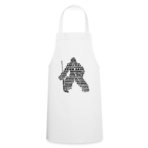 Language of Hockey (Goalie version, black print) - Cooking Apron
