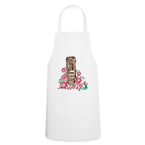 Tiki Totem with Hibiscus Flowers - Cooking Apron