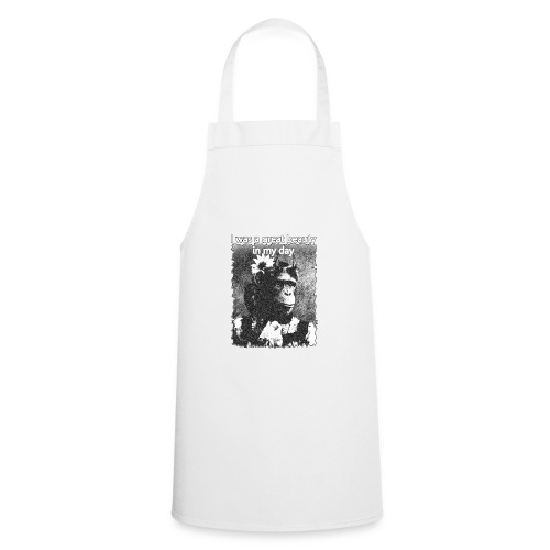 Funny Chimpanzee Old Age Joke Design - Cooking Apron