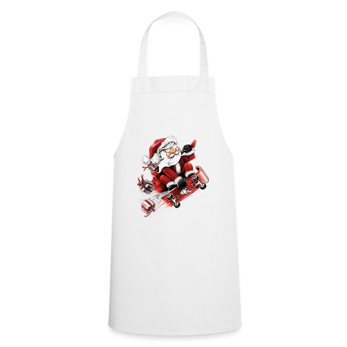 Santa Skateboarding - Cooking Apron