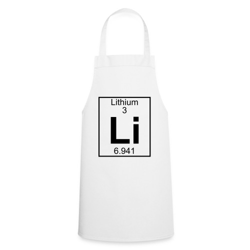 Lithium (Li) (element 3) - Cooking Apron