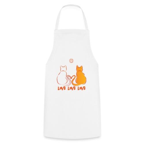 The Red Twins LOVE LOVE LOVE 2 - Grembiule da cucina